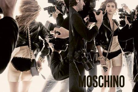 Bella and Gigi Hadid by Steven Meisel for Moschino Spring/Summer 2017
