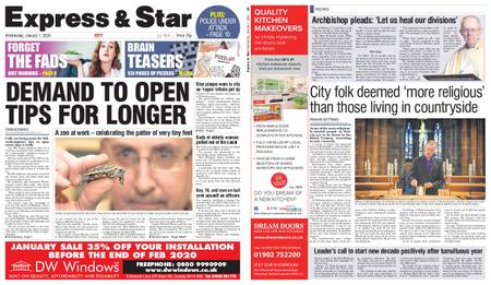 Express and Star City Edition – January 01, 2020