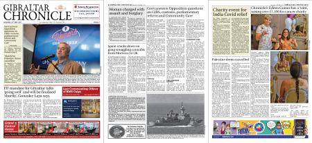 Gibraltar Chronicle – 22 May 2021