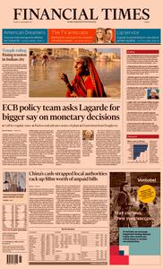 Financial Times Europe – 11 November 2019