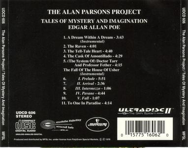 THE ALAN PARSONS PROJECT: TALES OF MYSTERY AND IMAGINATION EDGAR ALLAN POE | ORIGINAL MASTER RECORDING | MFSL |REPOST