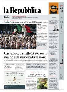 la Repubblica - 29 Agosto 2018