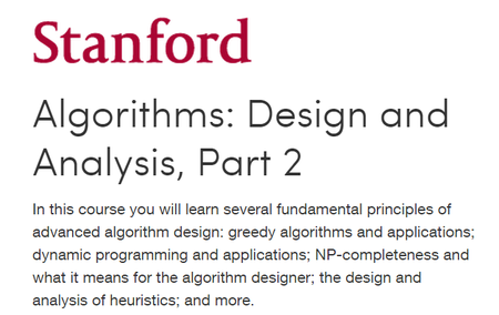 Coursera - Algorithms: Design and Analysis - Stanford University (Part 1-2)