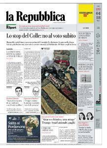 la Repubblica - 9 Aprile 2018