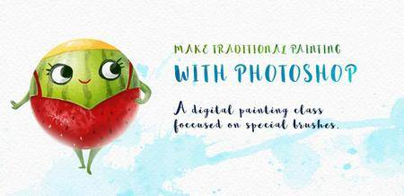The magic of digital brushes: How to simulate traditional painting with Photoshop