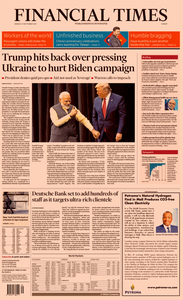 Financial Times Europe – 23 September 2019