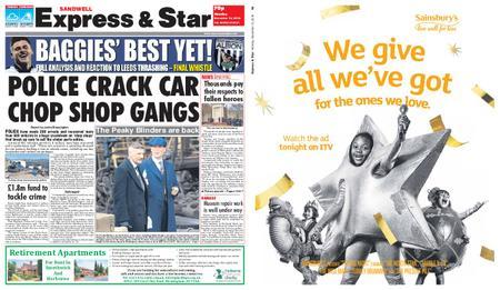 Express and Star Sandwell Edition – November 12, 2018