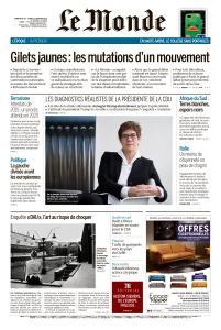 Le Monde du Dimanche 20 et Lundi 21 Janvier 2019