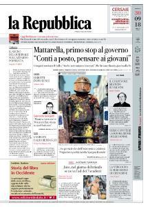 la Repubblica - 30 Settembre 2018