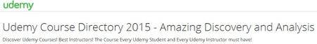 Udemy Course Directory 2015 - Amazing Discovery and Analysis