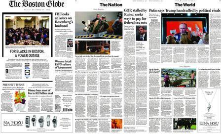 The Boston Globe – December 15, 2017