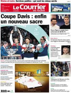 Le Courrier de l'Ouest Angers - 27 novembre 2017