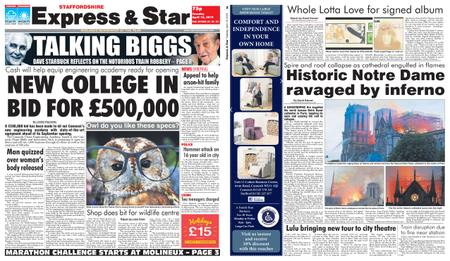 Express and Star Staffordshire Edition – April 16, 2019