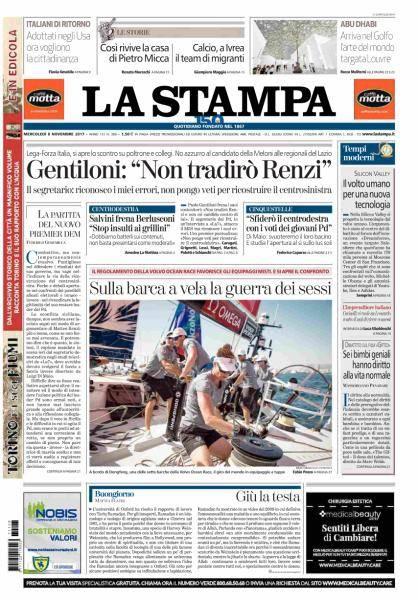 La Stampa - 8 Novembre 2017