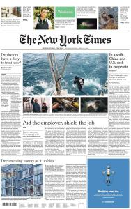 International New York Times - 4-5 April 2020