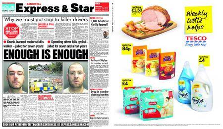 Express and Star Sandwell Edition – January 25, 2018