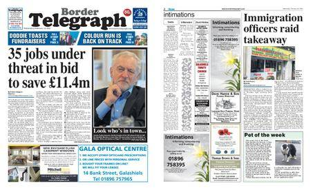 Border Telegraph – February 14, 2018
