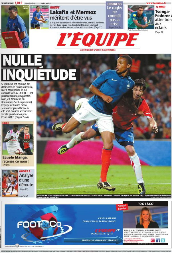 L'EQUIPE (11 Août 2011)