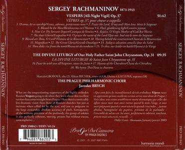 Prague Philharmonic Choir, Jaroslav Brych - Rachmaninov: Vespers, Op. 37;  Liturgy of St John Chrysostom, Op. 31 (2007) [Re-Up]