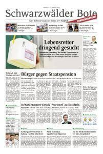 Schwarzwälder Bote St. Georgen, Triberg, Furtwangen - 15. Januar 2018