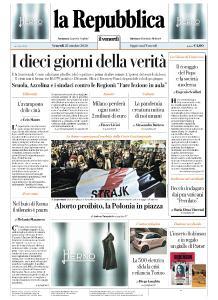 la Repubblica - 23 Ottobre 2020