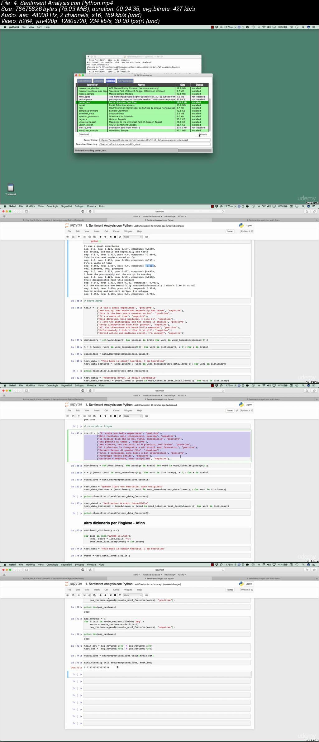 Corso completo di Data Science con Python
