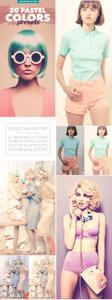 Graphicriver - 20 Pastel Colors Presets - Photoshop Action 12017470