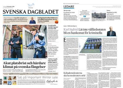 Svenska Dagbladet – 29 oktober 2019