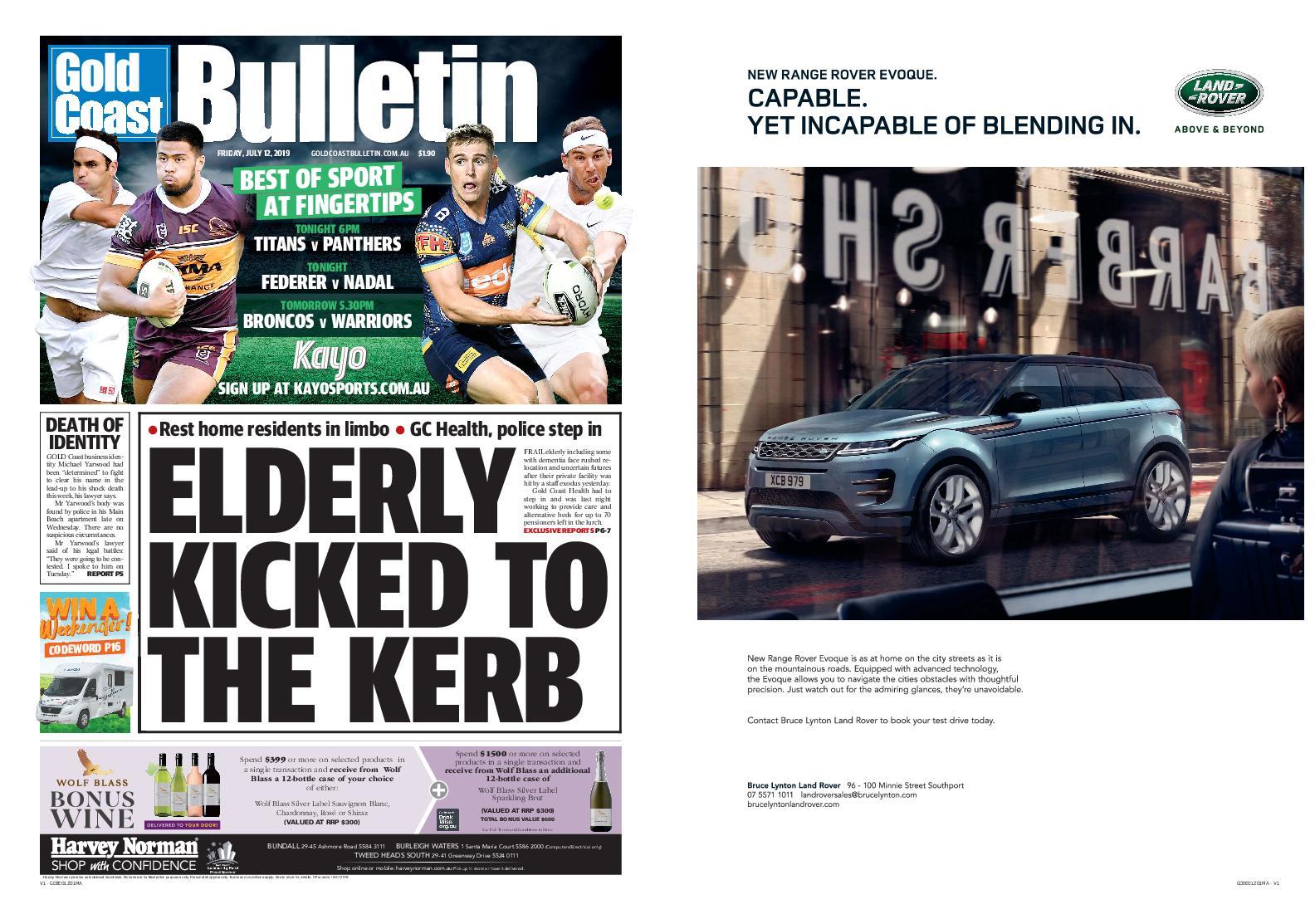 The Gold Coast Bulletin – July 12, 2019