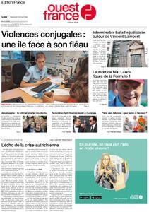 Ouest-France Édition France – 22 mai 2019