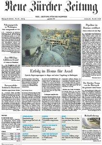 Neue Zürcher Zeitung vom 30 Juli 2013