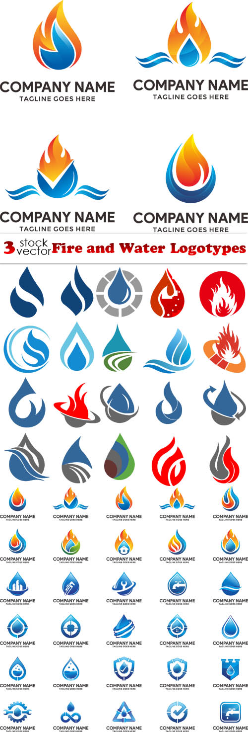 Vectors - Fire and Water Logotypes