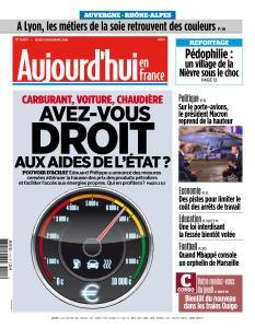 Aujourd'hui en France du Jeudi 15 Novembre 2018