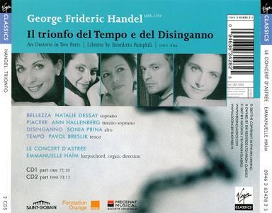 Emmanuelle Haim, Le Concert d'Astree - Handel: Il trionfo del Tempo e del Disinganno (2007)