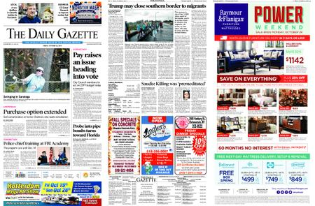 The Daily Gazette – October 26, 2018