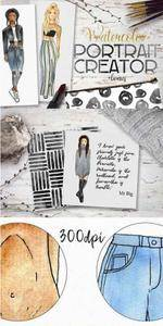 CreativeMarket - Watercolor portrait creator