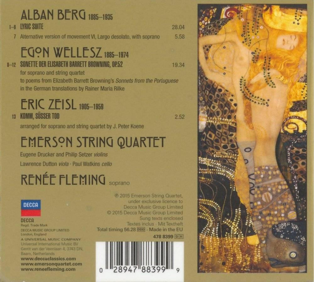 Emerson String Quartet, Renée Fleming - Berg: Lyric Suite