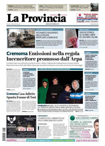 La Provincia di Cremona - 8 Febbraio 2017