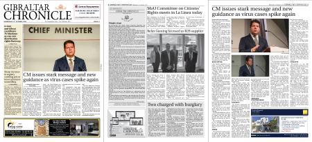 Gibraltar Chronicle – 21 October 2020