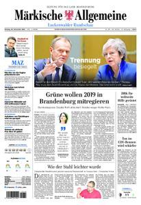 Märkische Allgemeine Luckenwalder Rundschau - 26. November 2018