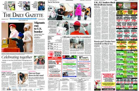 The Daily Gazette – November 26, 2018