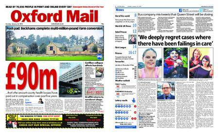 Oxford Mail – January 16, 2018