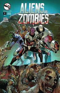 Aliens Vs Zombies 0012015 2 covers Digi-Hybrid