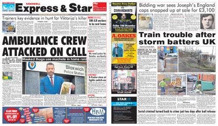 Express and Star Sandwell Edition – November 30, 2018