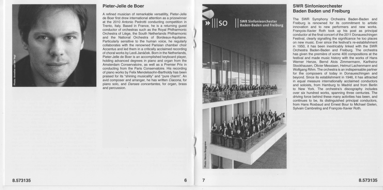Mario Castelnuovo-Tedesco - Violin Concertos - Tianwa Yang, SWR SO, de Boer (2015) {Naxos 8.573135}