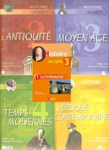 """Didier Lorès, Emmanuel Rousseau, """"Histoire au cycle 3"""", 5 tomes"""