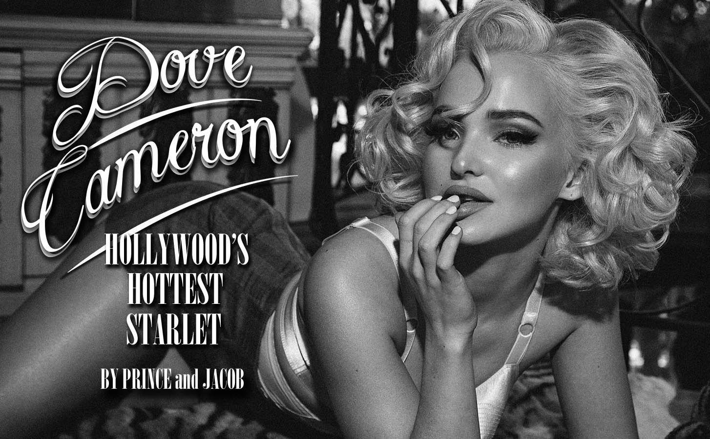 Dove Cameron in her newest Marilyn Monroe-inspired photo shoot for Galore Magazine