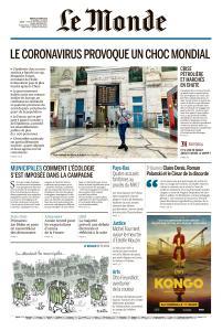 Le Monde du Mardi 10 Mars 2020