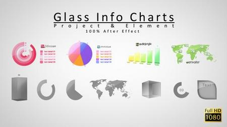 Videohive Glass Info Charts 3642856