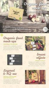 CreativeMarket - Organic food mockups - vegetables